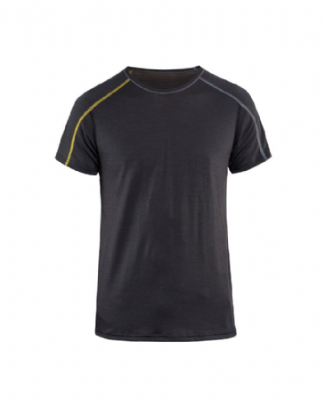 Blaklader 4798 Underwear T-Shirt XLIGHT 100% Merino (Dark Grey/Yellow)